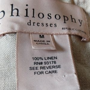 Philosophy Dresses - Philosophy Minimalist Dress Linen M Lagenlook